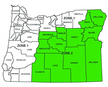 Map of duck hunting zones