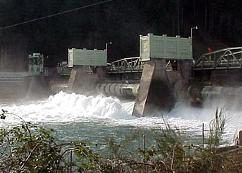 A photo of Leaburg Dam