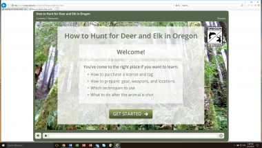 Screen shot of how to hunt