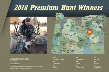 2018 Premium Hunt Winners
