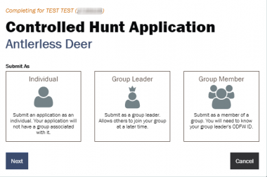 Screen shot of step 6 of hunt application