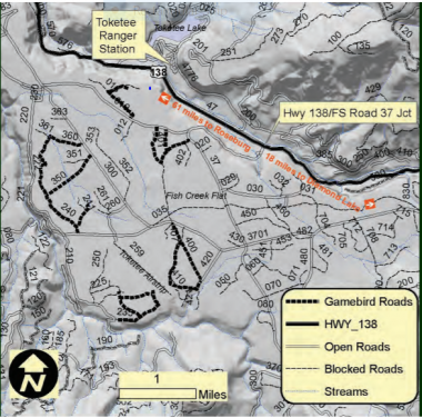 map of Fish Creek bird trails