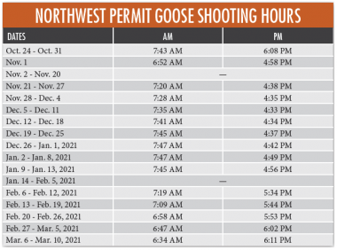 goose shooting hours