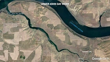 Lower John Day River map