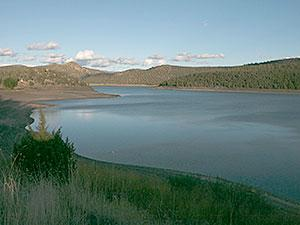 Ochoco Reservoir at dusk