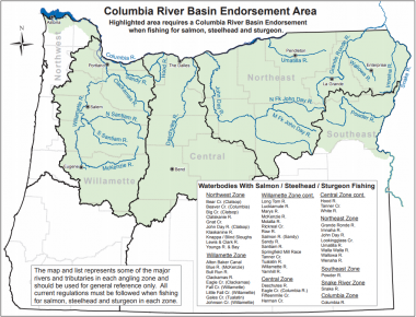 Buying a columbia river basin endorsement oregon for How much does a fishing license cost