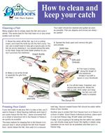 a small image of a flyer about how to clean and keep your catch