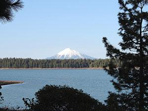a view of Mt. McLoughlin from Howard Prairie Reservoir