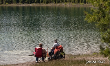 Fishing at North Twin Lake