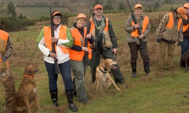 Pheasant hunting workshop participants