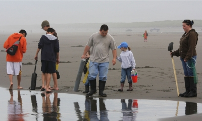 Family clamming