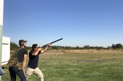 Shooting shotgun